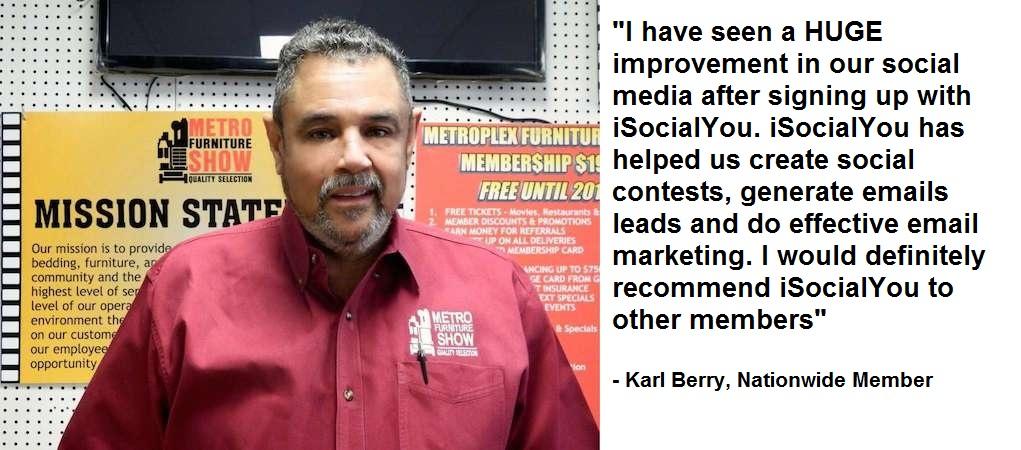 Karl Berry testimonial